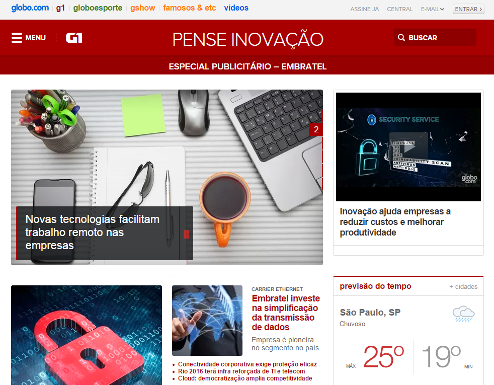 Globo.com - Pense Inovação Embratel