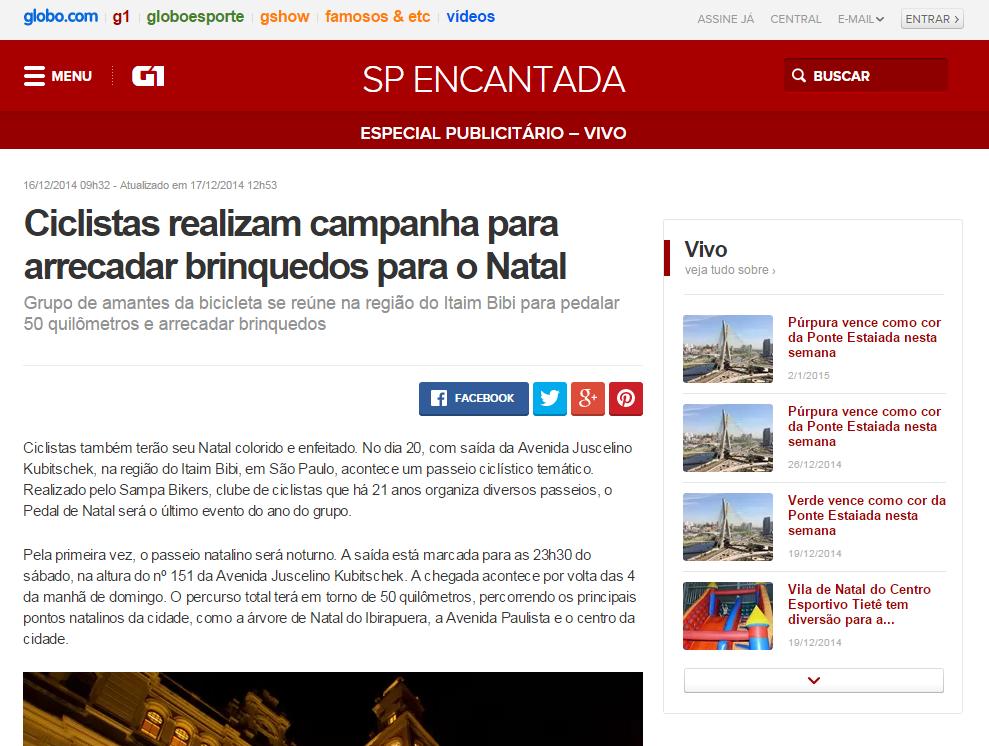 Globo.com - SP Encantada Vivo