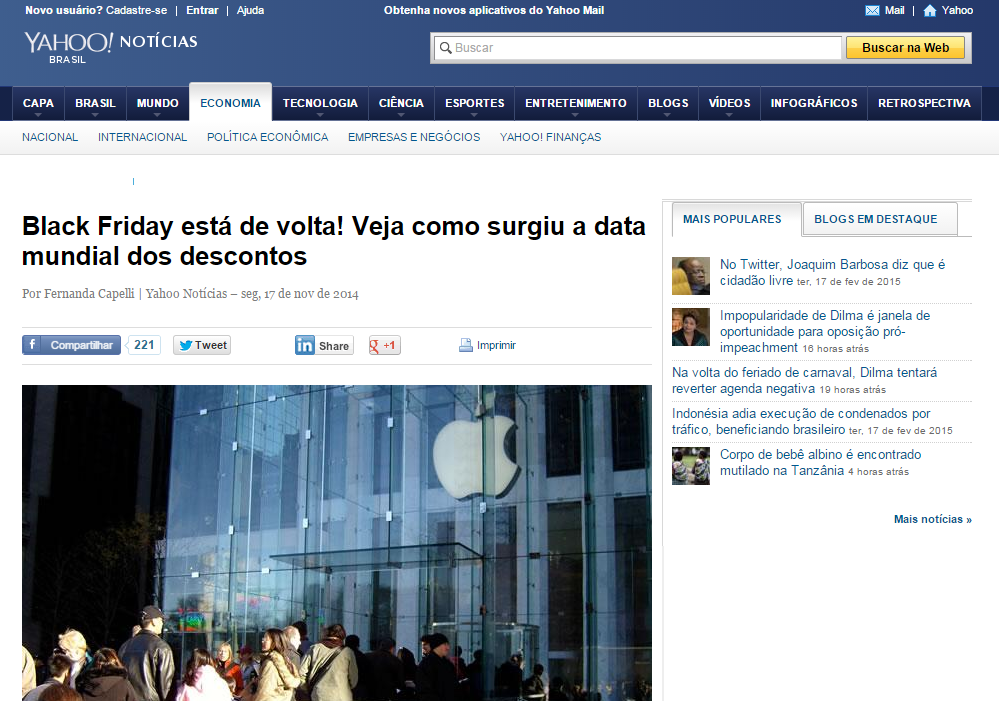 Yahoo! Brasil - Black Friday 2014